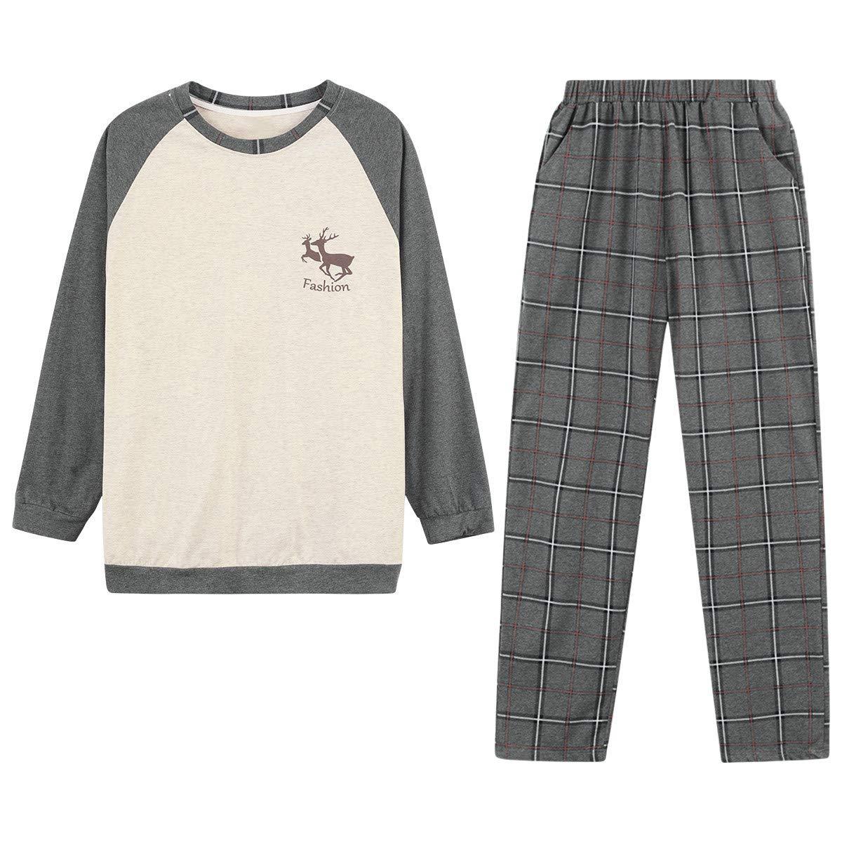 Buy Top-Vigor 2pcs Big Boys Pajama Sets Cotton Flannel Teen Boy Winter Pajama  Pjs Long Sleeve Sleepwear for Young Youth Boys at Amazon.in