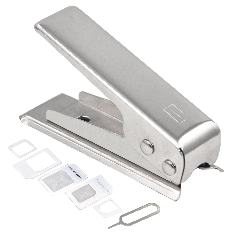 Digiflex Cortador de tarjetas SIM micro y 2 adaptadores para iPhone 4, 4S, 5, iPad 3 y posteriores