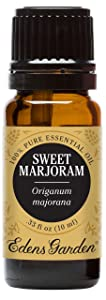 Edens Garden Sweet Marjoram Essential Oil, 100% Pure Therapeutic Grade (Highest Quality Aromatherapy Oils- Allergies & Sedative), 10 ml