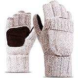 TraderPlus Winter Warm Touchscreen Gloves Wool Mittens for Women Men (Beige)