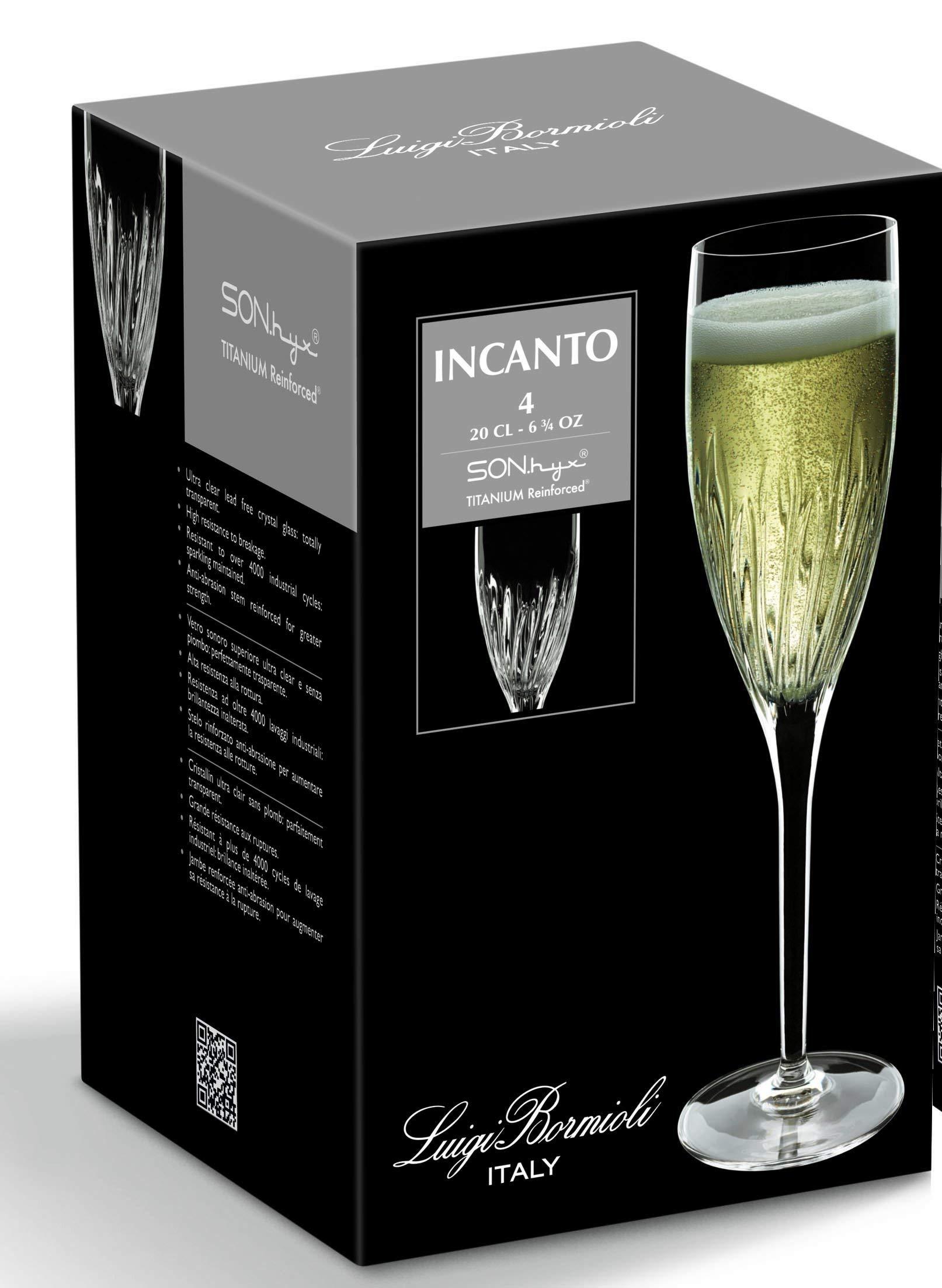 Luigi Bormioli Incanto Beverage Glass, 14.75-Ounce, Set of 4