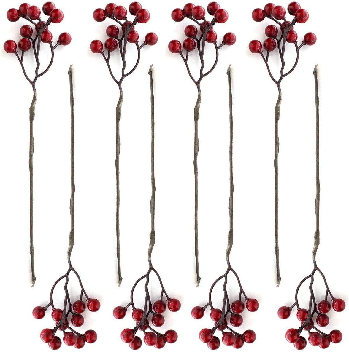 Garland Pip Berry Stems Artificial Berries Spray for DIY Crafts Wreath Decorative Red Winter Floral Picks for Craft Decorations//Home Holiday Decor Christmas Ornaments Decoration