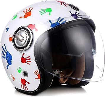jet helmet 53 cm - 62 cm Multi-VisorTM ready SP-888 bronze retro ECE certified Soxon extra small shell motorcycle helmet scooter separate visors XS-XL