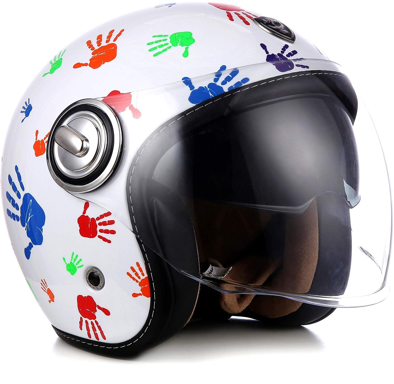talla L Astone Helmets minisportg-bgol casco Moto Minijet Sport Cooper Negro//Dore