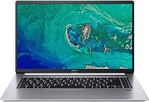 "High Performance Acer Swift 5 Ultra-Thin & Lightweight Laptop 15.6"" FHD IPS Touch Display, Intel Quad-Core i7-8565U, 16GB DDR4 RAM, 512GB PCIe SSD, Backlit Keyboard, Windows 10 Silver"