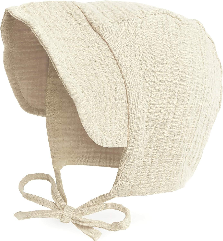 visor cotton bonnet baby hat jersey bonnet stretchy bonnet fabric sun hat Fabric Bonnet