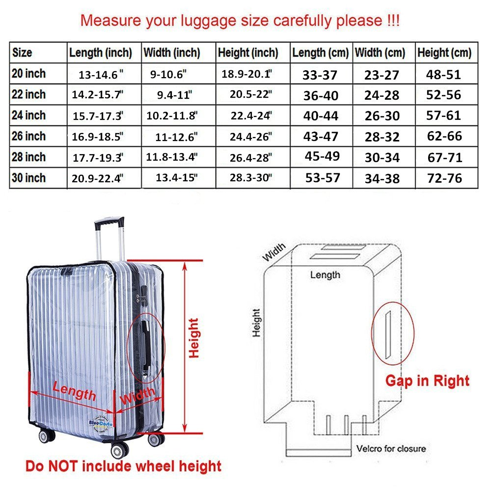 Gigabit Luggage Protector Case PVC Baggage Cover Suitcase Protective Cover by Gigabit (Image #2)