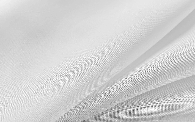 Stoffbreite 295 cm Stoff Meterware Voile Weiß