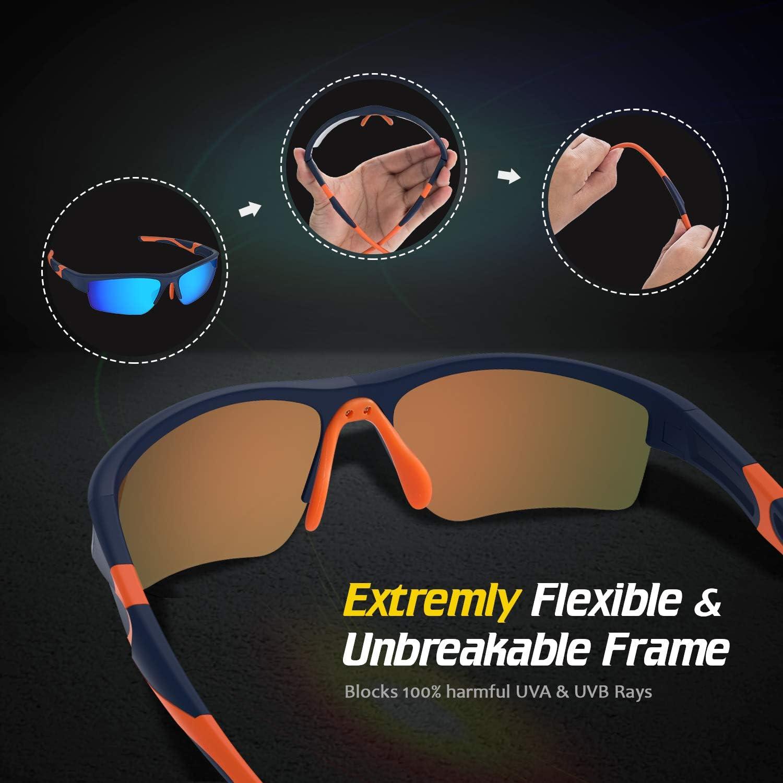 Azul Avoalre/® para Hombre Gafas de Sol Deportivas Gafas Hembra Unisex Conducto no polarizado TR90 Super Light UV400 Protecci/ón Certificado CE