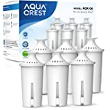 AQUA CREST NSF, TÜV SÜD Certified Pitcher Water Filter, Replacement for Brita Filters, Pitchers, Dispensers, Compatible…