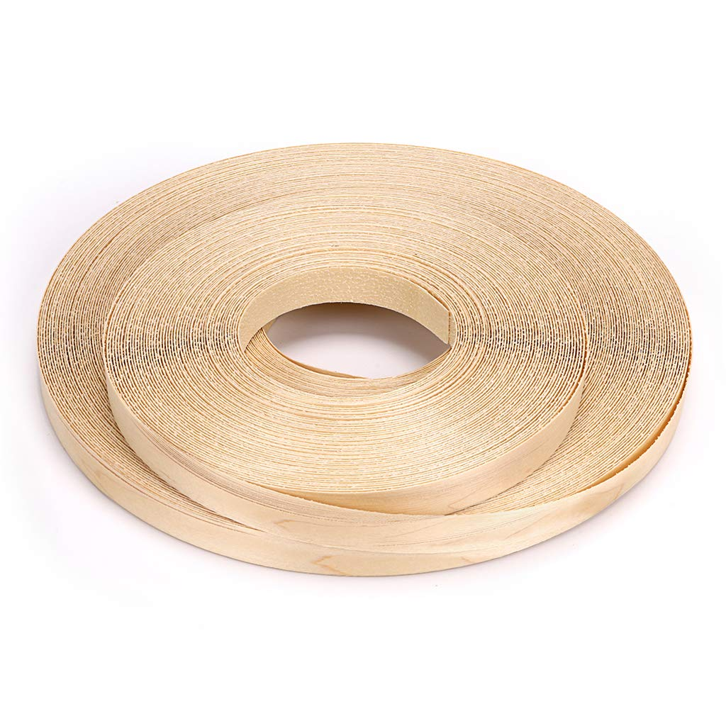 Skelang Maple 3/4'' X 260' Roll Wood Veneer Edgebanding Preglued Iron-on with Hot Melt Adhesive Edgebanding Flexible Wood Tape