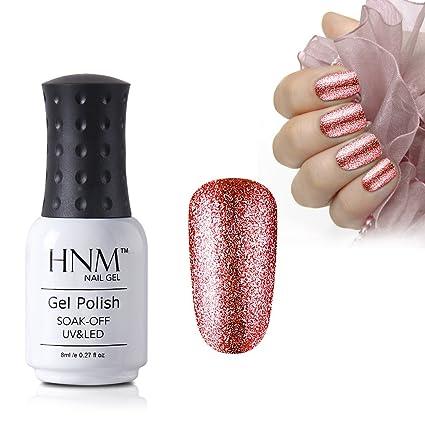 Esmalte de uñas de HNM para uñas de gel de UV o LED, color platino