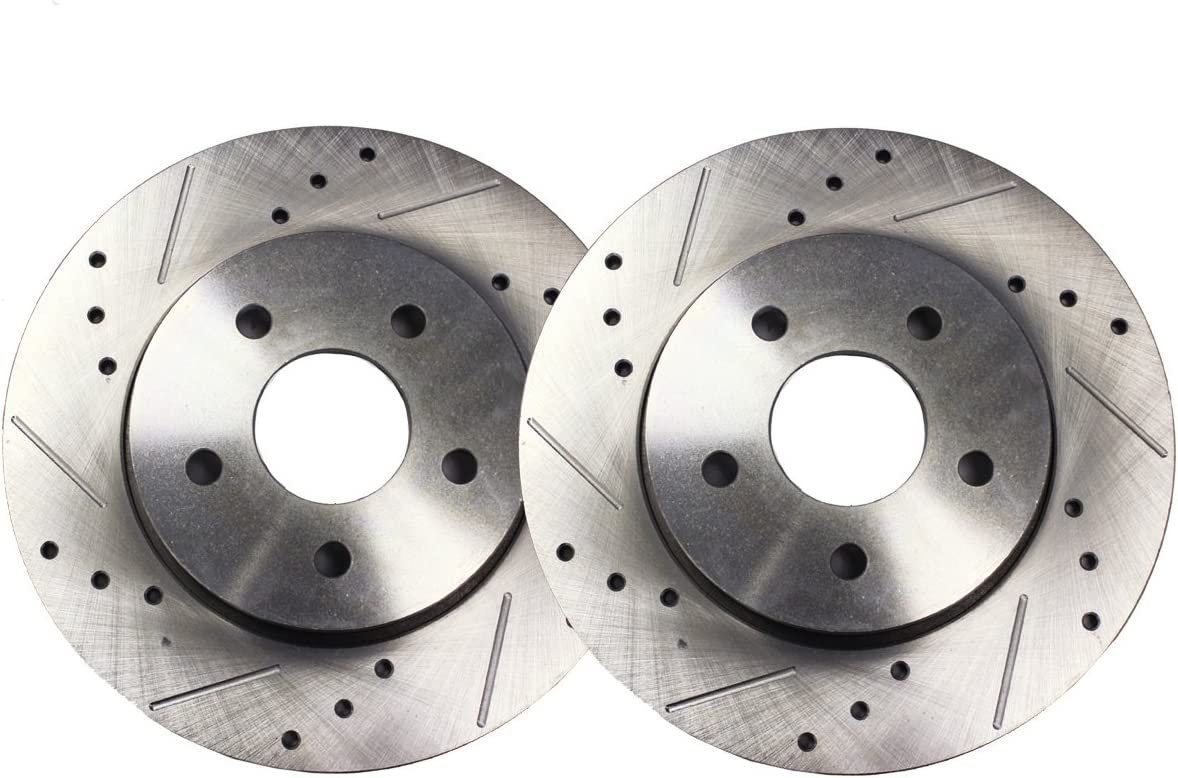 14.17 360mm FRONT Drilled and Slotted Brake Rotors for SRT Only Detroit Axle