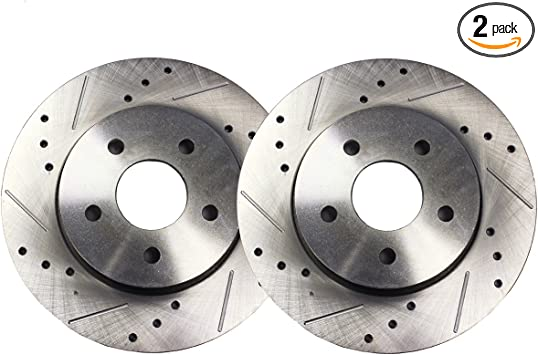 Mazda 3 2004-2005 2.0L Brake Rotors FULL KIT POWERSPORT DRILLED SLOTTED