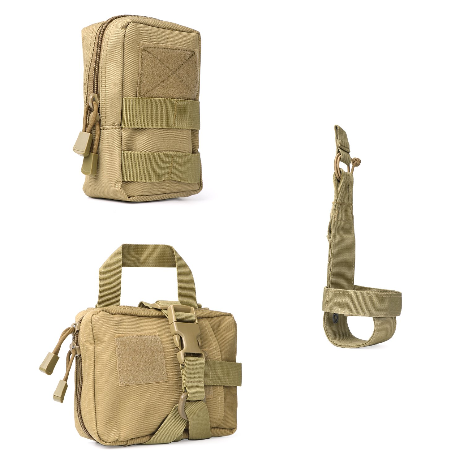Tactical Molle Pouches Multi-Purpose EDC Military Nylon Waist Pack Utility Bag Detachable Patches/Pouches For Dog Vest Harness