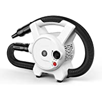 DADYPET Soffiatore Asciugacapelli Asciugatrice Riscaldatore per Cani/Gatti 2400W - Temperatura E velocità Regolabili (Nero)