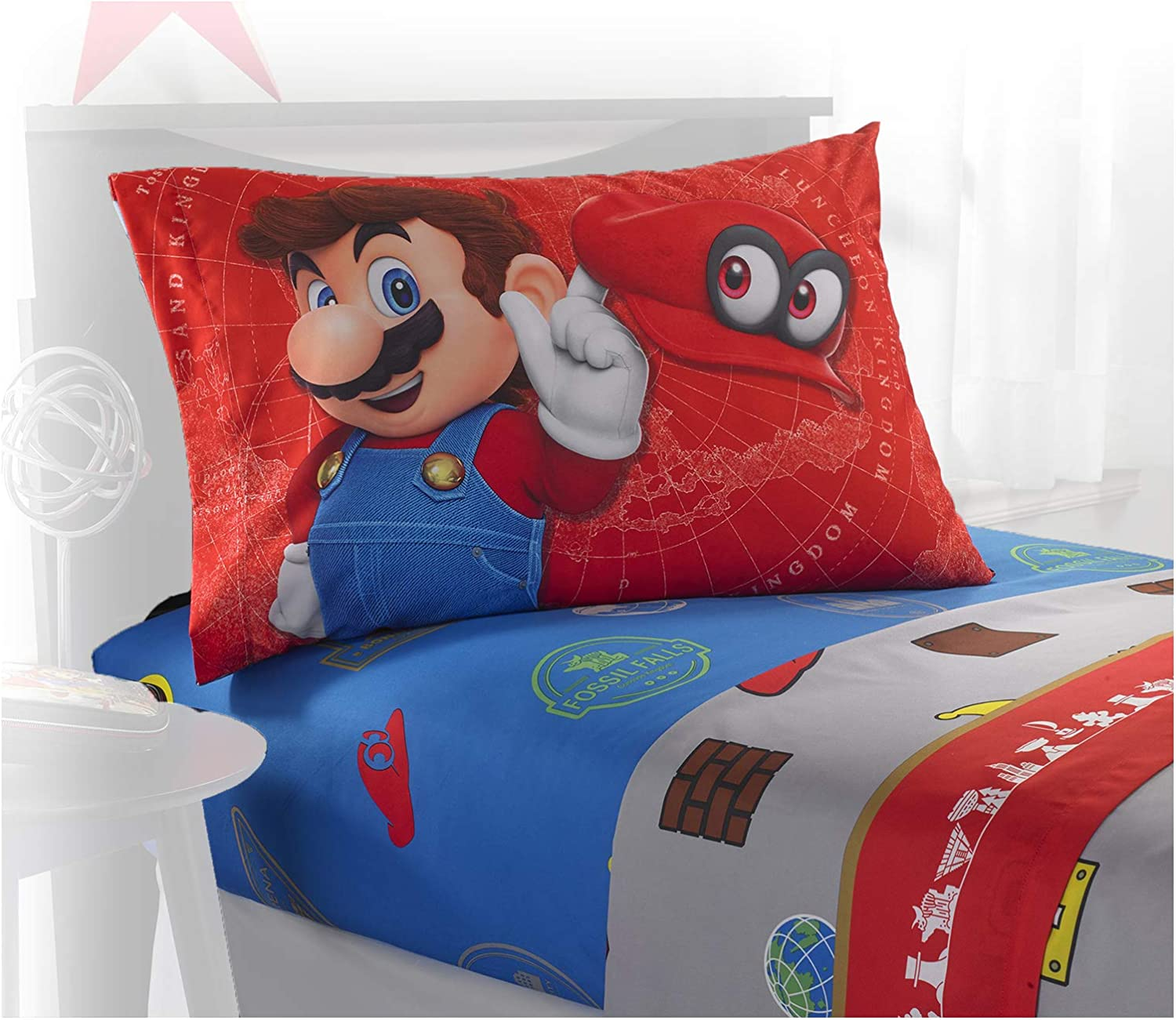 Super Mario Odyssey World 4 Piece Full Sheet Set
