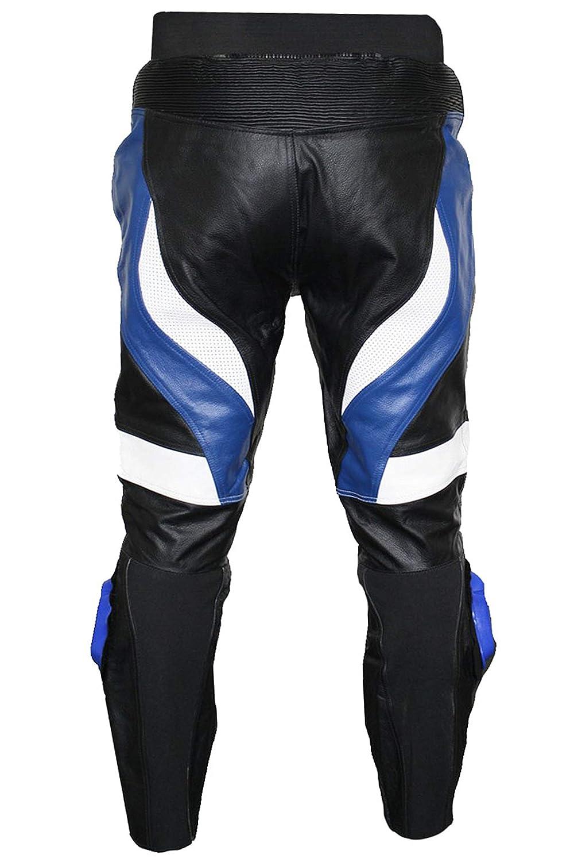 German Wear de Moto Racing Pantalon en Cuir de Vachette Noir//Rouge//Blanc 54