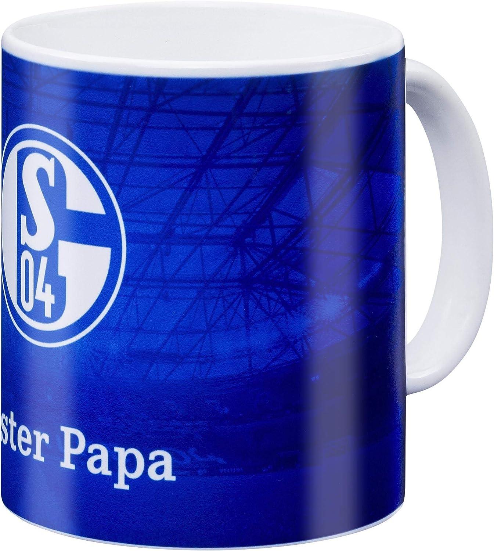 Kaffeebecher 0,3 Liter schwarz TSV 1860 München Tasse Glow in the Dark Tee