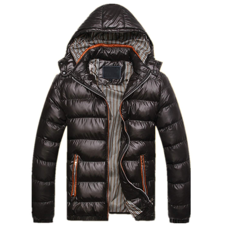 Longra Mens Casual Color Matching Coat Long Sleeve Slim Jacket Pocket Fit Hooded Sweatshirt
