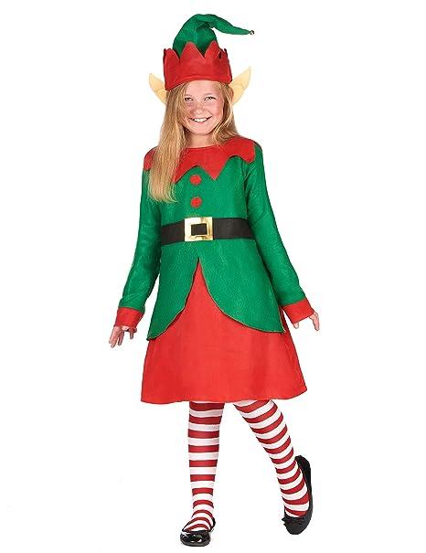 Generique - Costume da Folletto di Natale per Bambina 4 6 Anni (104 ... 0d2ec6c91b31