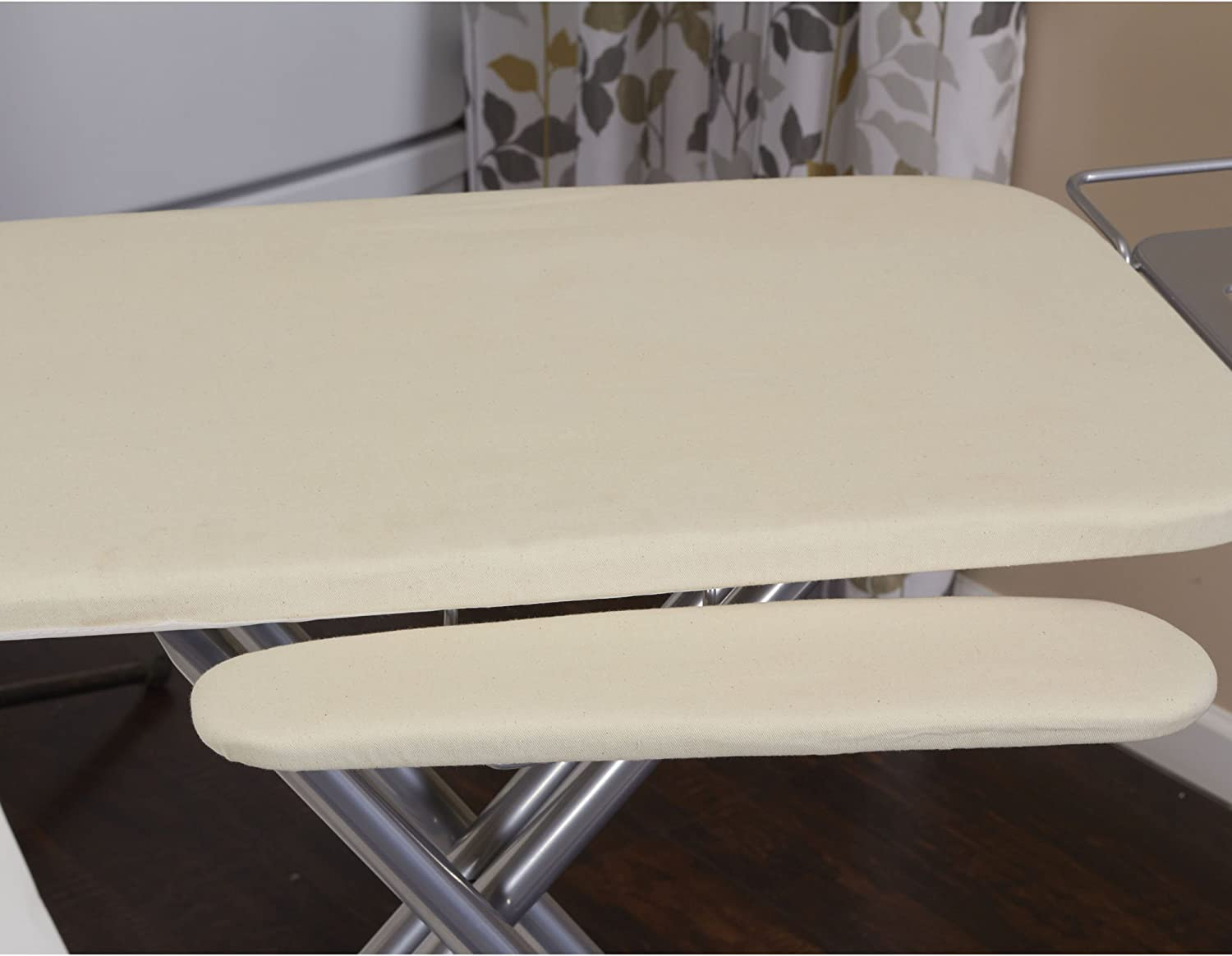 Household Essentials 971840 1 Wide Top 4 Leg Mega Ironing Board With Adjustable Height And Bonus Sleeve Board Natural Cotton Cover Amazon Ca Home Kitchen