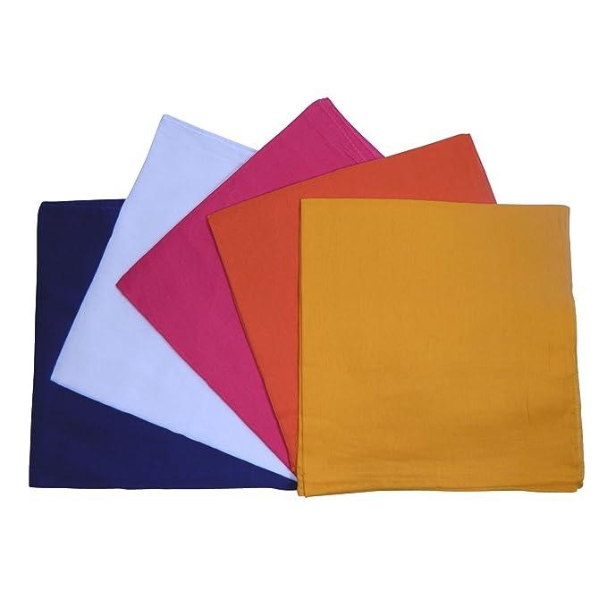 Pañuelos pack de 5 bufandas 100 x 100 cm Set B cinco colores azul ...