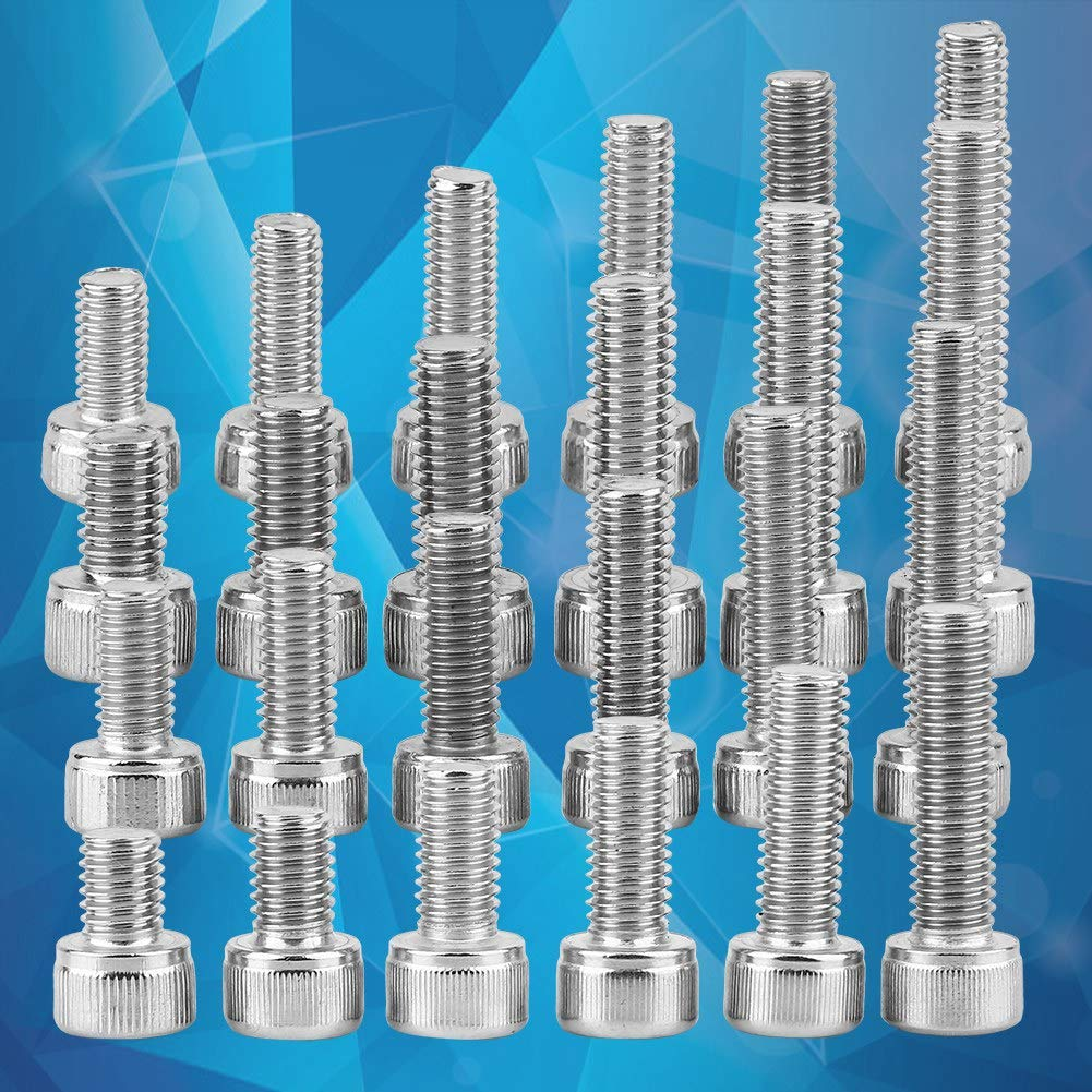 Stainless Steel SS 304 Hex Socket Cap Head Screws with Nut Washers Assortment M3-M8 M6 120