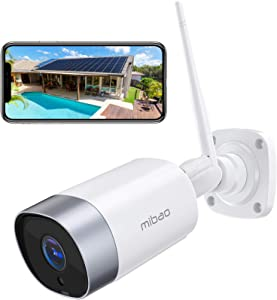 Security Camera Outdoor, Mibao 1080P WiFi Camera, IP66 Waterproof, with Two-Way Audio, Night Vision, Motion Detection, Compatible with iOS/Android