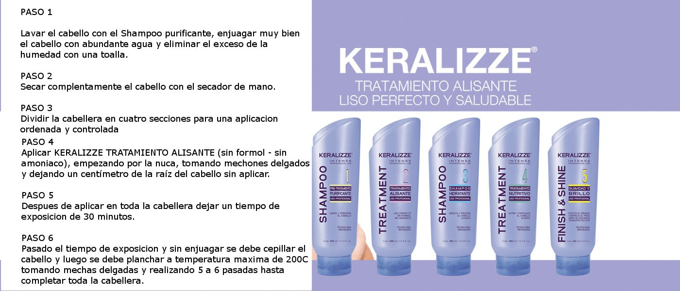 Amazon.com : THE BEST KERATIN TREATMENT FORMOL FREE SET KERALIZZE 5 STEPS (5 UNITS X400 ML) BRASILERA KERATIN TREATMENT STRAIGHTENS EXTREME CURLY HAIR ...