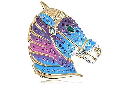 Amazon com: Alilang Swarovski Crystal Elements Blue Purple