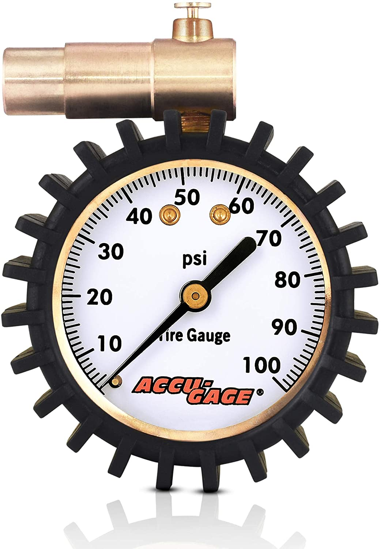 Mountain Bike MTB Air Pressure Gauge Tire Meter For Presta Schrader Valve