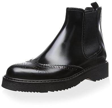 d92a07bac Amazon.com | Prada Linea Rossa Women's Chelsea Boot, Nero, 35 M EU ...