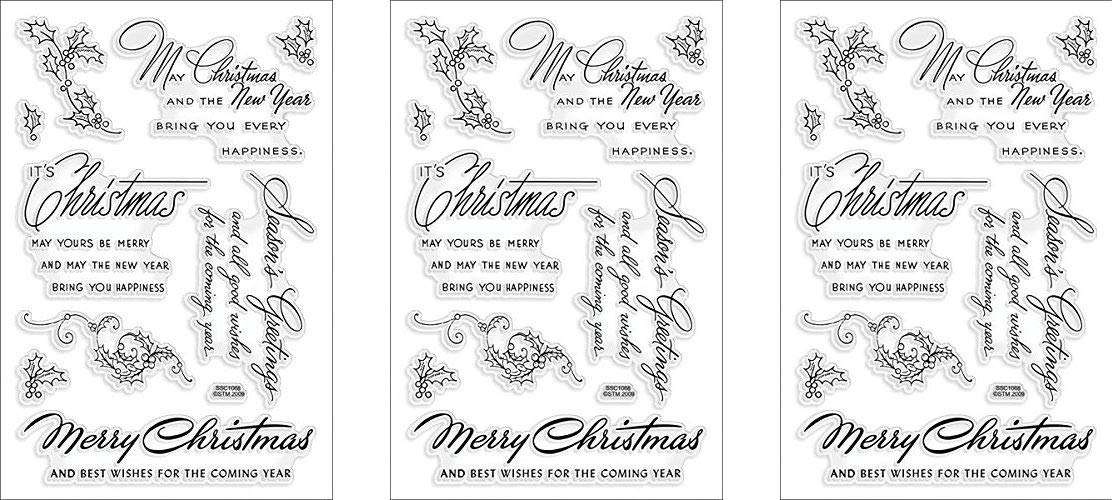 STAMPENDOUS SSC1068 Christmas Wishes (3-(Pack))