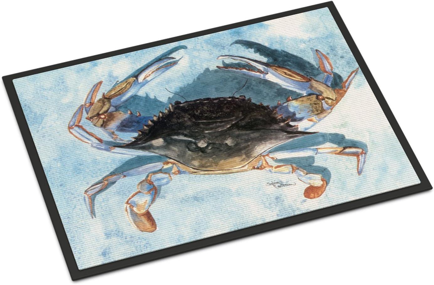 Caroline s Treasures 8055-JMAT Crab Indoor or Outdoor Mat 24×36 8055 Doormat, 24H X 36W, Multicolor