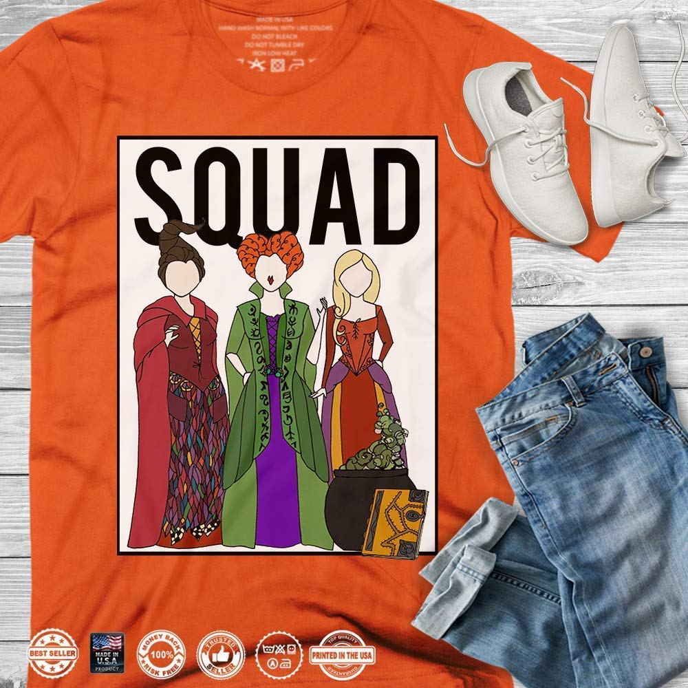 Hocus Pocus Squad Sanderson Sisters Witches On Halloween Night Customized Handmade T-Shirt Hoodie/Long Sleeve/Tank Top/Sweatshirt
