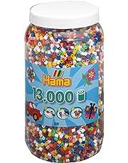 Hama 211-00 - Bügelperlen Dose mit ca. 13.000 Perlen, 10 Farben gemischt
