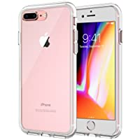 JETech Funda para iPhone 8 Plus iPhone 7 Plus, Carcasa Bumper, Shock-Absorción, Anti-Arañazos, HD Clara
