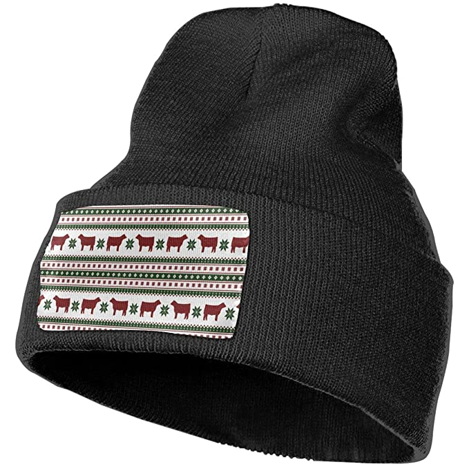 f27edf25c76 YOOJPC-6 Unisex Christmas Cow Cattle Beanie Skull Caps Knit Hat for Winter  Ski Hat