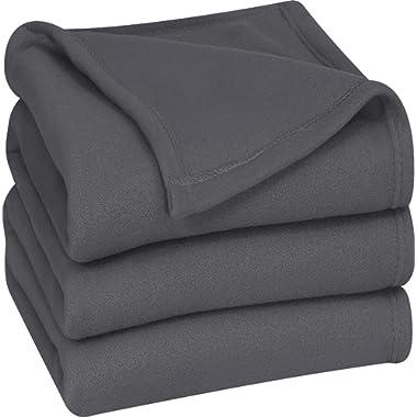 Utopia Bedding Fleece Blanket Queen Size Grey Lightweight Soft Warm Bed Blanket Plush Blanket Microfiber