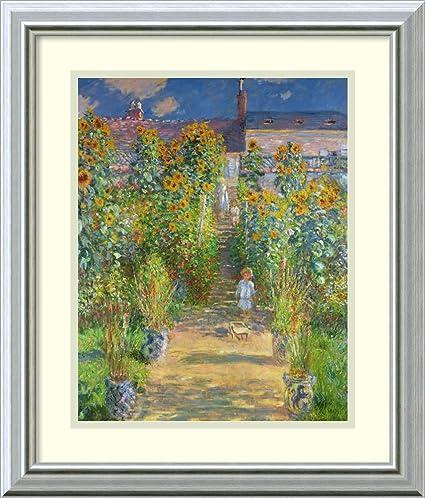 Framed Art Print U0027The Artistu0027s Garden At Vetheuil, 1880 (II)u0027 By