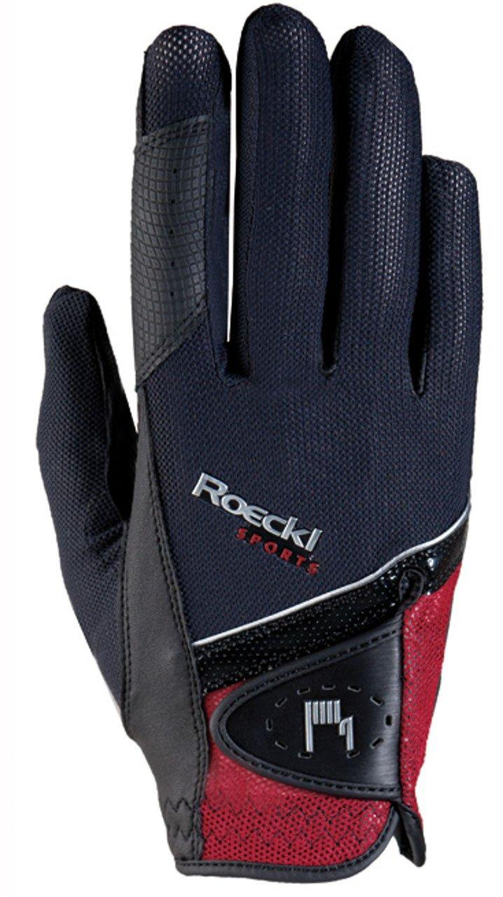 Roeckl – riding gloves MADRID 8 ブラックーレッド B06XHPV5GN