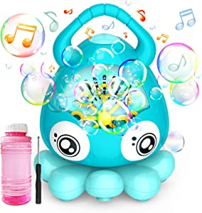 Hamdol Bubble Machine Automatic Bubble Blower, Portable Music Bubble Maker for Toddlers Kids with 3000+ Bubbles/min, 100ml Solution, Bubble Toys for Boys Girls Age 3+ Outdoor Indoor Parties