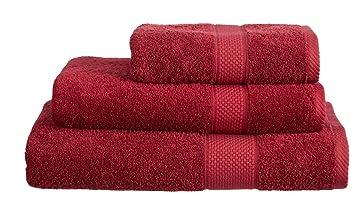 Juego de toallas lujosas 100% de suave algodón turco, de 500 g/m2, algodón, granate, Extra Large Bath Sheet (100cm x 180cm): Amazon.es: Hogar
