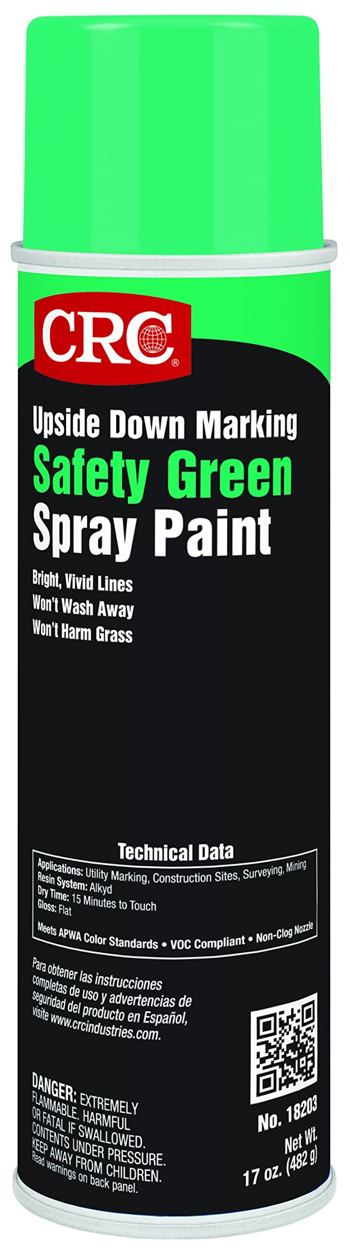 Upside Down Marking Paints-Safety Green, 17 Wt Oz