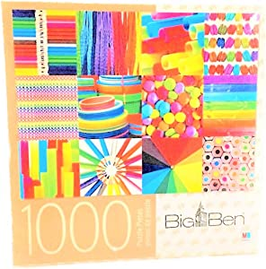 Jigsaw Puzzle 1000 Piece Colorful Collage Big Ben