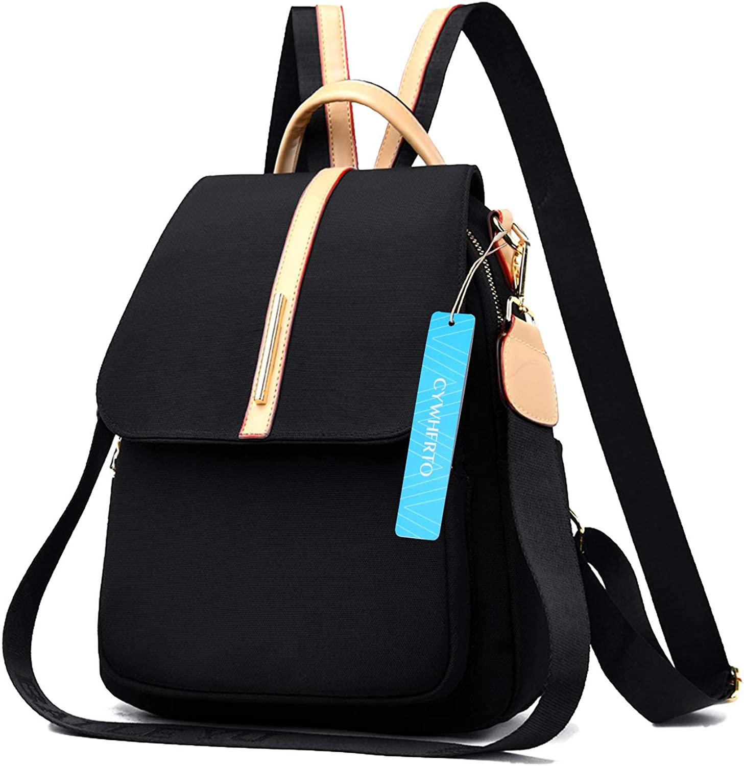 CYWHFRTO Backpack Purse for women Fashion Backpack Lightweight Travel Casual Canvas printing Daypack (black)