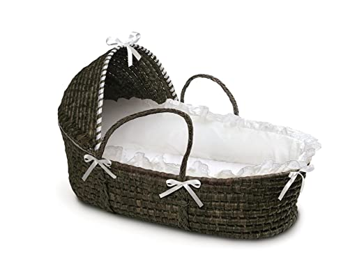 Badger Basket Moses Basket with Hood and Bedding