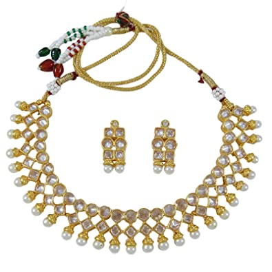 Amazon Banithani Indian Wedding Necklace Earrings Set