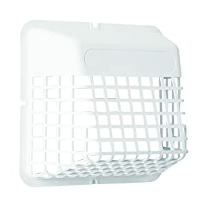 "Deflecto Universal Bird Guard, Fits 3"" to 4"" Vents, White (UBGWL)"